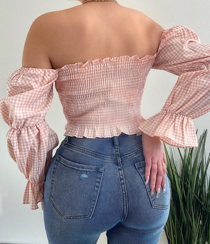 Emma top (Peach)