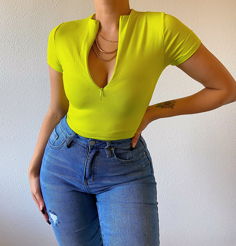 Lexi top (lime green)