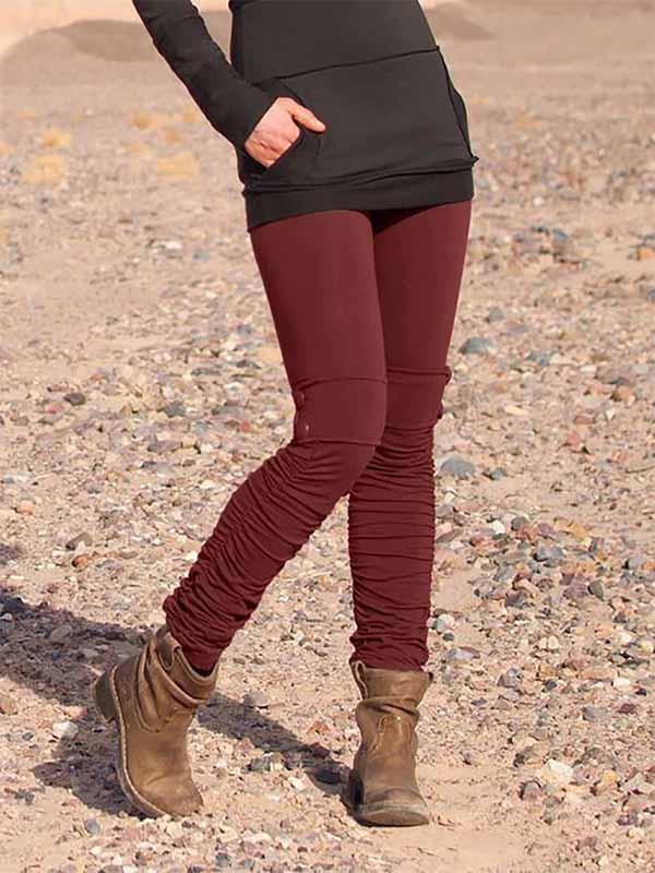 Frauen Casual Solid Color Stretch Leggings