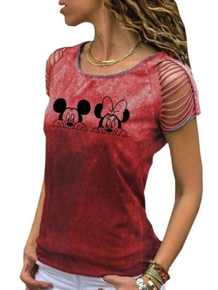 Mickey & Minnie Print Tee TOPS