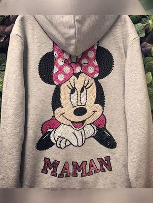 Minnie Print Casual Jacke