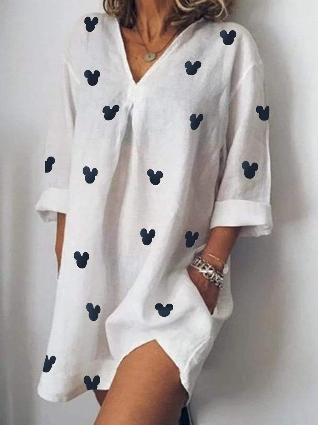Mickey Mouse Loose Shirt Dress