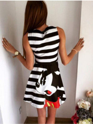 Sleeveless Mickey Print Dress