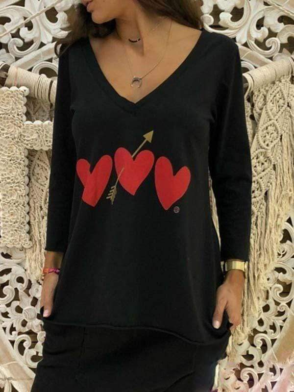 novelarrival.com Plus Size Tops Black / L Plus size love t-shirt