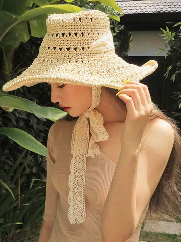 novelarrival.com hat Beige Foldable beach straw hat