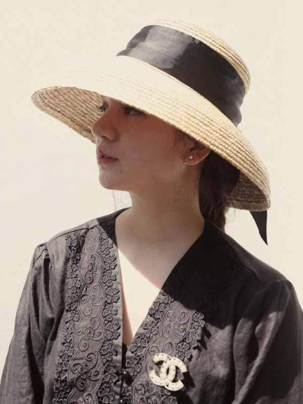 novelarrival.com hat Wheat Straw bell shaped straw hat