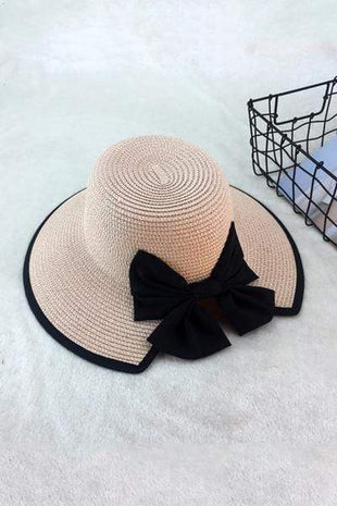 novelarrival.com Hat Pink / One Size Chic Bow-Knot Straw Hat