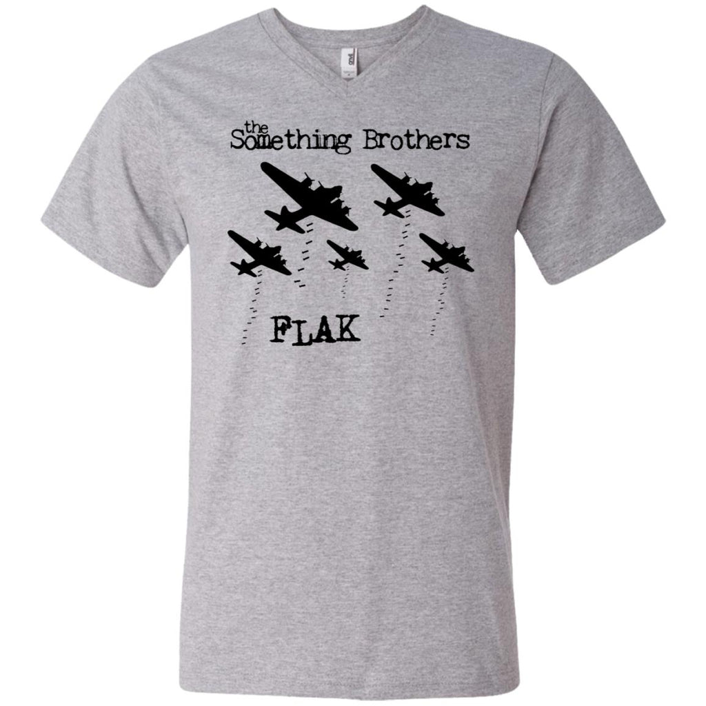The Something Brothers FLAK Bombers Men's Printed V-Neck T-Shirt