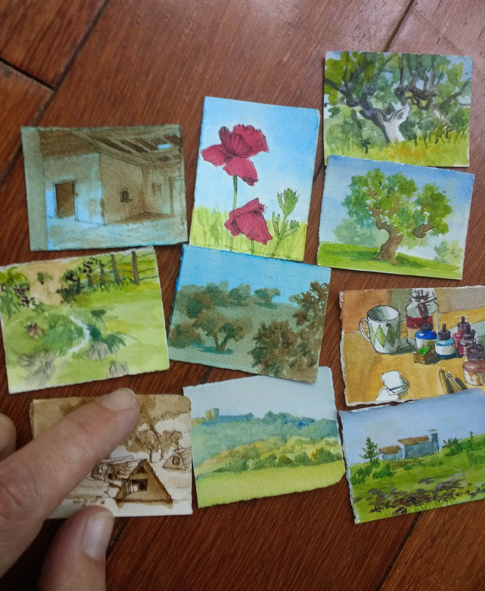 1 inch x 1.25 inch landscapes