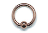 Ball Closure Ring - Rose Gold PVD