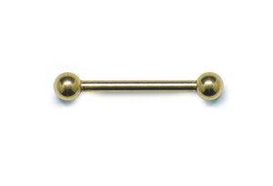 Straight Barbell - Gold PVD