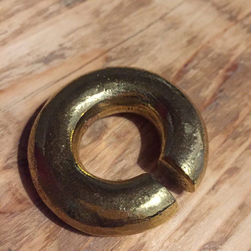 Brass Circle Ear Weight