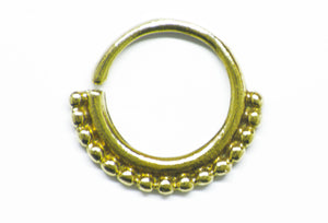 Brass Simple Septum Ring