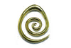 Brass Spiral Ear Weight
