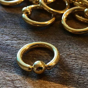 Ball Closure Ring - Gold PVD