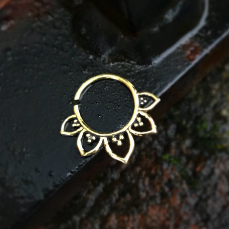 Brass Flower Septum Ring