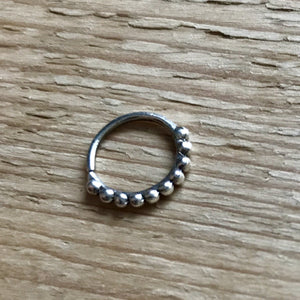 Silver Simple Septum Ring