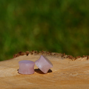 Natural Stone Plug - Rose Quartz