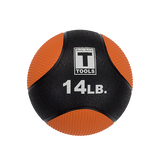 Rubber Medicine Ball - 14 Lb Orange