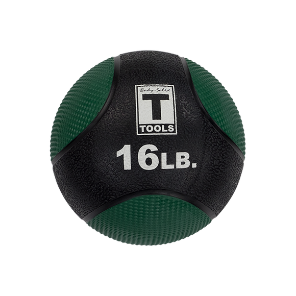 Rubber Medicine Ball - 16 Lb Green