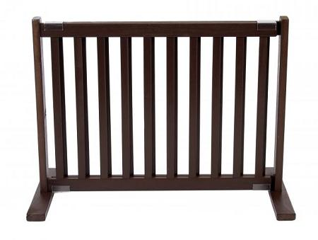 Free Standing Pet Gate - Small/Mahogany