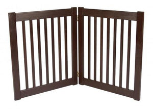 Two Panel EZ Pet Gate - Small/Mahogany