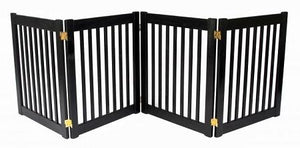 Four Panel EZ Pet Gate - Small/Mahogany