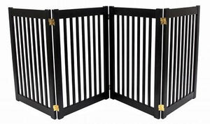 Four Panel EZ Pet Gate - Large/Mahogany