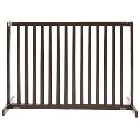 Free Standing Pet Gate - Small Tall/Mahogany