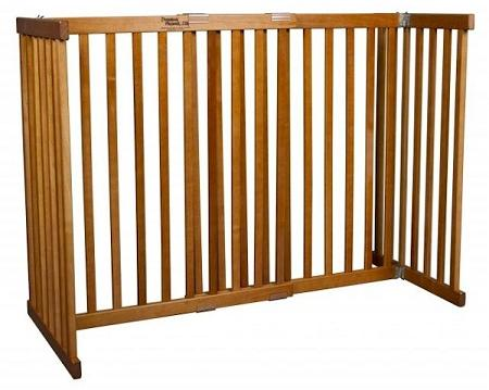 Free Standing Pet Gate - Large Tall/Artisan Bronze