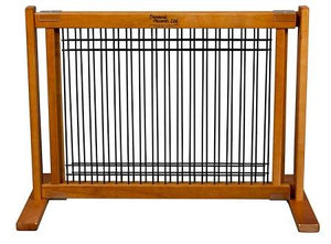 Wood and Wire Pet Gate - Large/Artisan Bronze