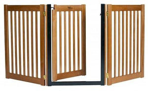 Walk Through 3 Panel Free Standing Pet Gate - Black