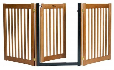 Walk Through 3 Panel Free Standing Pet Gate - Artisan Bronze
