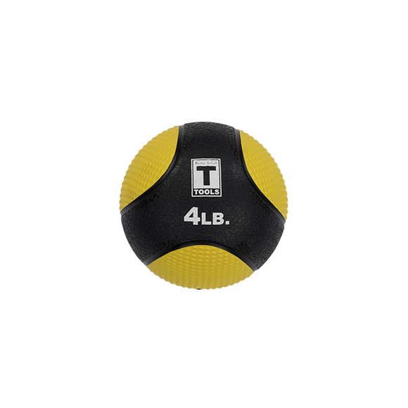Rubber Medicine Ball - 4 Lb Yellow