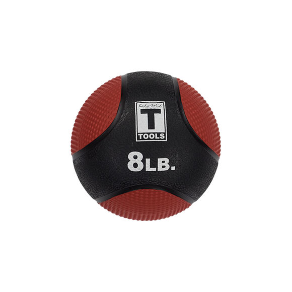 Rubber Medicine Ball - 8 Lb Red