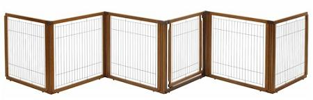 6 Panel Convertible Elite Pet Gate - Autumn Matte