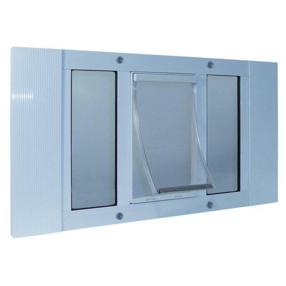 Aluminum Sash Window Pet Door - Small/23-28 Inches
