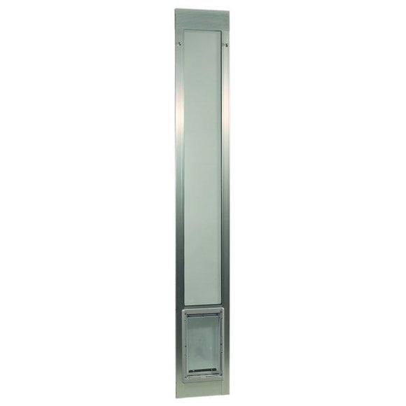 Fast Fit Pet Patio Door - Medium/Silver Frame 77 5/8