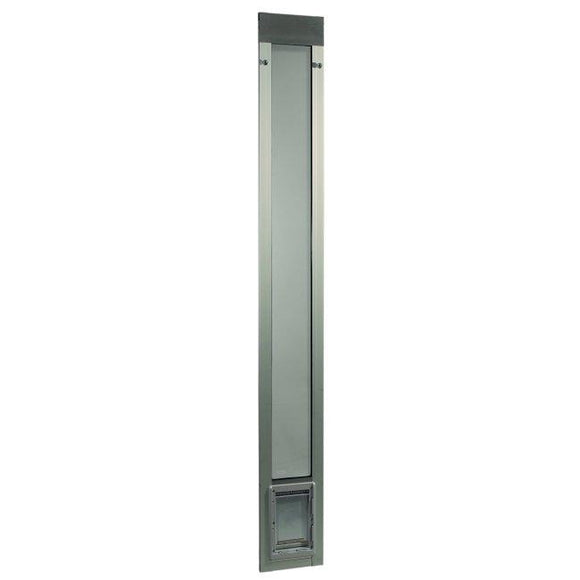Fast Fit Pet Patio Door - Small/Silver Frame 77 5/8