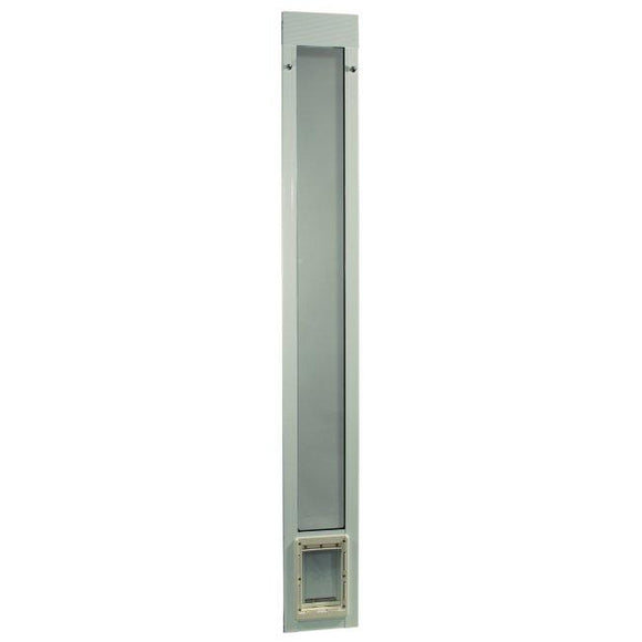 Fast Fit Pet Patio Door - Small/White Frame 77 5/8