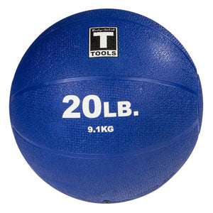 Rubber Medicine Ball - 20 Lb Dark Blue