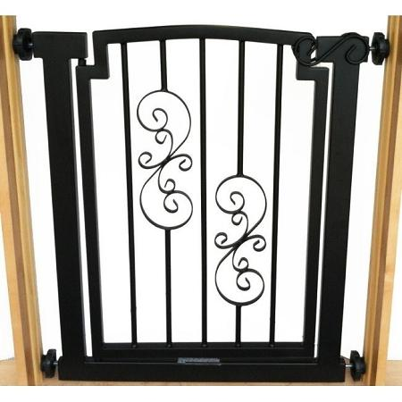 Noblesse Doorway Dog Gate - Black