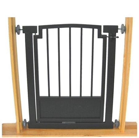 Royal Weave Doorway Dog Gate - Black