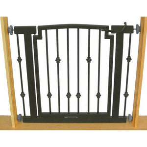 Emperor Rings Hallway Dog Gate - Black