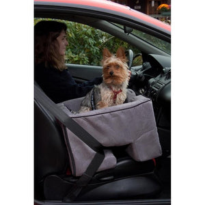 Large Dog Booster Car Seat - Charcoal
