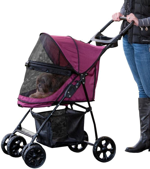 Happy Trails Lite NO-ZIP Pet Stroller - Boysenberry