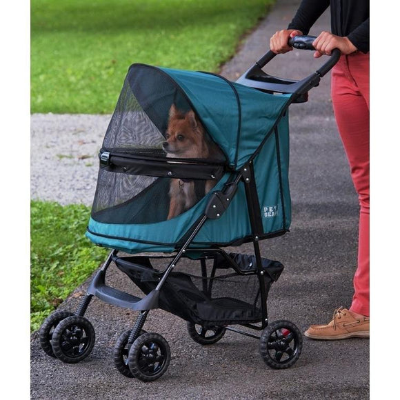 Happy Trails No-Zip Pet Stroller - Emerald
