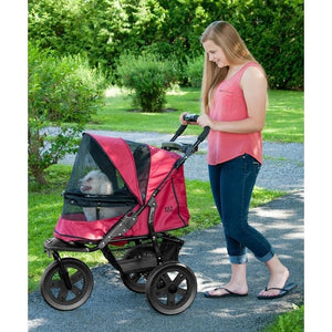 AT3 No-Zip Pet Stroller - Rugged Red