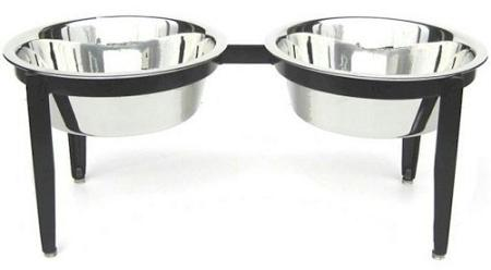 Visions Double Elevated Dog Bowl - Medium