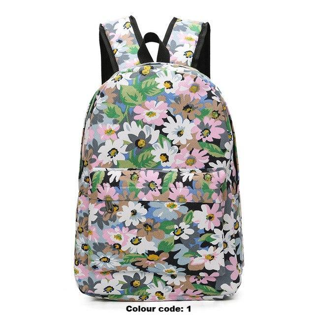 Flowery School Backpack